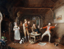 A Soldier Relating His Exploits in a Tavern, John Cawse. Copyright National Army