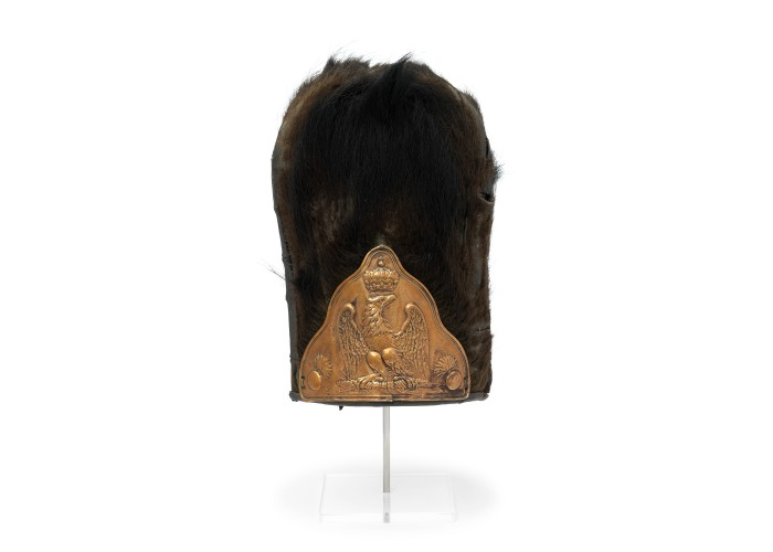 Imperial Guard Bearskin captured at Waterloo. Copyright National Army Museum.