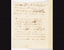 Manuscript of Childe Harold Pilgrimage, Canto III. Copyright National Library of Scotland.