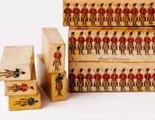 Box of wooden drill blocks