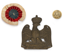 Button, shako plate & French rosette recovered from Waterloo battlefield