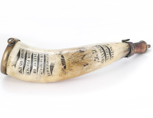 Carved powder horn, Fishguard Invasion