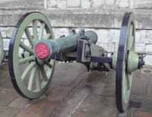 French Cannon captured at the Battle of Waterloo. Collection Royal Armouries at Tower of London.