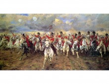 Scotland Forever! By Lady Butler. Photolithograph, 1887. National Army Museum collection.