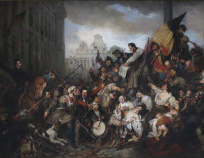 Episodes from September Days 1830 [Belgian Revolution], Gustav Wappers. Copyright Royal Museums of Fine Arts of Belgium.
