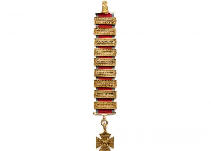 Duke of Wellington's Peninsular Gold Cross. Copyright Apsley House / English