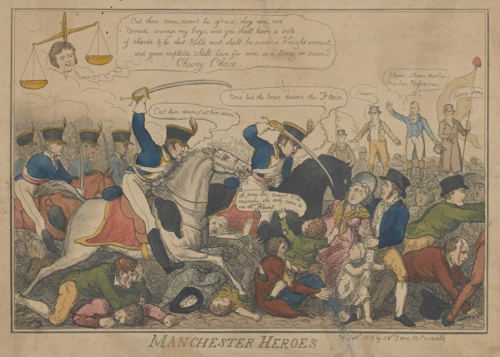 Manchester Heroes, cartoon by James Gilray. Copyright National Army Museum.