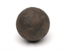 Cannonball Fired at Waterloo. Copyright National Army Museum.