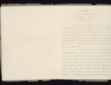 Notes on an interview with Napoleon. Copyright National Army Museum.