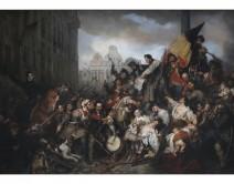 Episodes from September Days 1830 on the Place de l'Hôtel de Ville in Brussels. Fine Arts Museum, Brussels.
