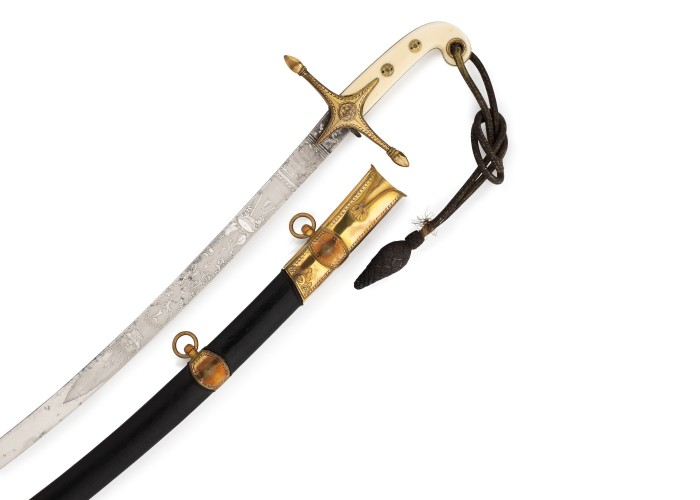 Mameluke sword. Copyright Queen's Own Hussars Museum.