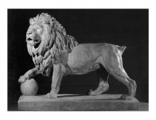 Model of the Lion's Mound statue at Waterloo. Copyright Fine Arts Museum, Belgium.