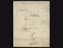 Hand-drawn map used at the Battle of Waterloo. Copyright National Army Museum.