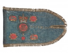 Standard of the King's Dragoon Guards carried at Waterloo. Copyright Firing Line Museum of the Welsh Soldier.