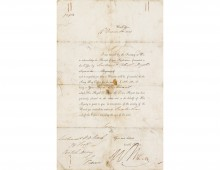 Letter confirming Lt. William Riach's payment for wounds. Copyright Highlanders' Museum.
