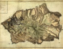 a photo of an old map of island