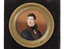 a circular Georgian portrait