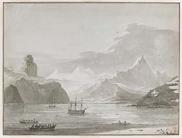a print of a sketch of an inlet