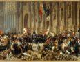 Lamartine Rejetant le Drapeau Rouge (Lamartine Rejects the Red Flag):  Painted by Felix Philippoteaux