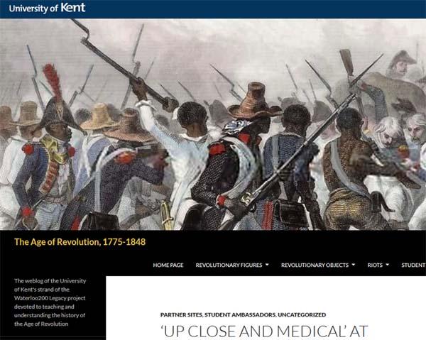 University of Kent blog screenshot